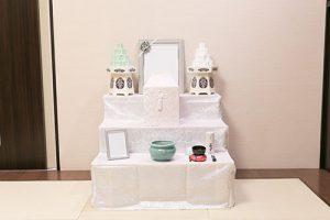 桜川市の葬儀・家族葬の流れ 自宅祭壇